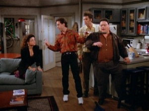 seinfeld and postmodernism Abstract this paper seeks to explain whether the television show called seinfeld can be perceived as a postmodern show in order to answer this question.